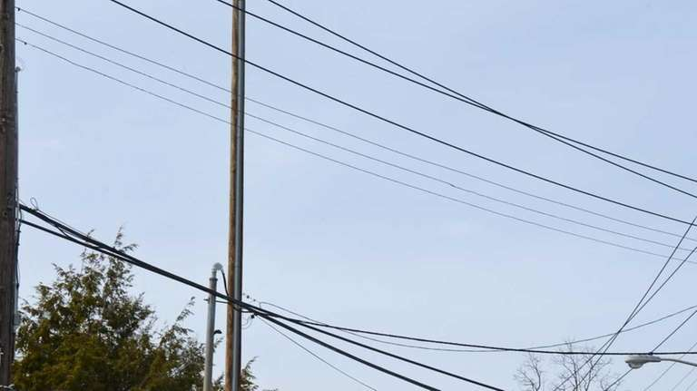 A new pole for cellular service equipment erected