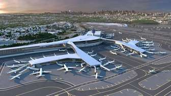 Rendering showing key features of the new Terminal