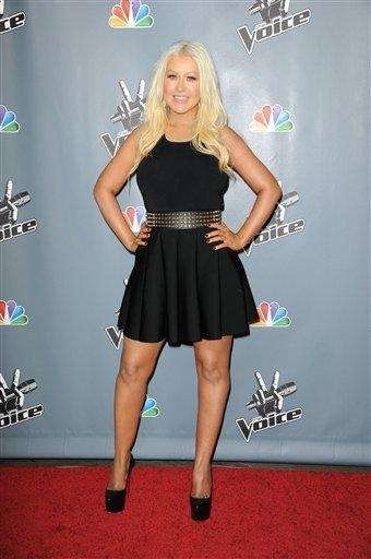 Christina Aguilera arrives at the 4th season premiere