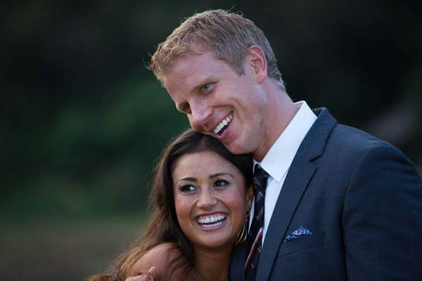 """The Bachelor"" Sean Lowe with fiancee Catherine Guidici"
