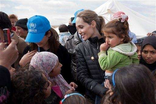 U.N. Special Envoy Angelina Jolie meets with Syrian