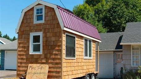 A tiny house in Portland, Ore. on July