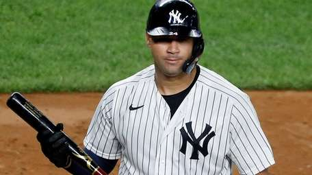 Gary Sanchez #24 of the Yankees looks on