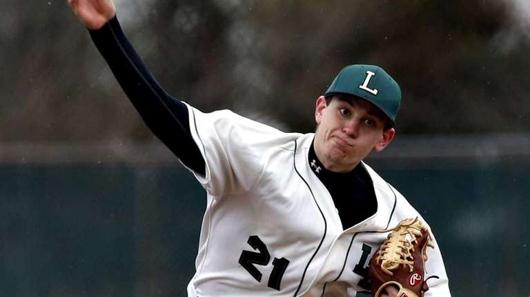 Longwood starting pitcher Chris Weiss delivers a pitch