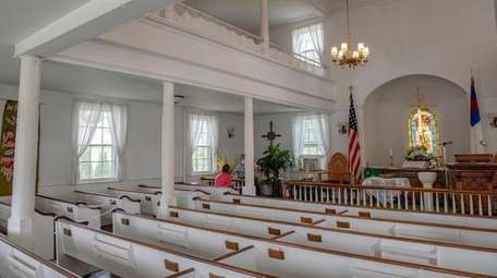 Parishioners added stained glass to the Hauppauge Methodist