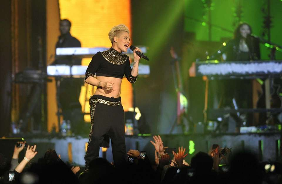 Pink in concert at the Nassau Veterans Memorial