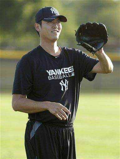Chien-Ming Wang works out at the Yankees' minor-league