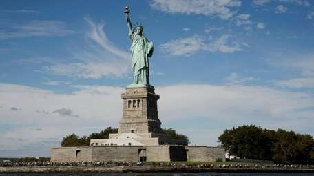 Liberty Island is open again, however the pedestal