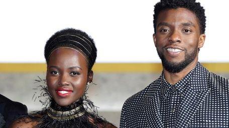 Friends Lupita Nyong'o and Chadwick Boseman starred together