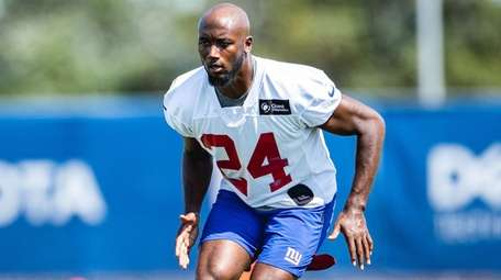 James Bradberry during Giants training camp on Wednesday,