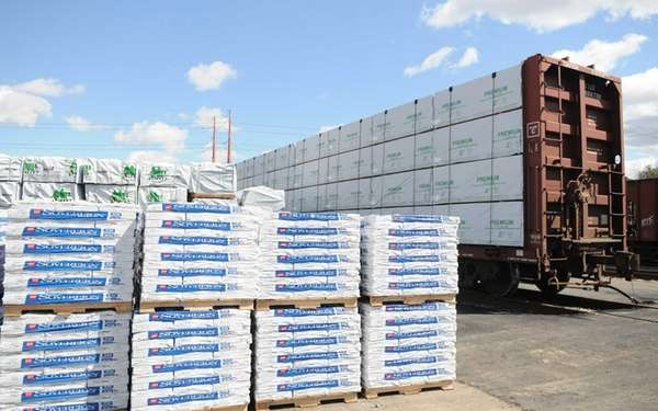 Shipments wait to be offloaded at the Brookhaven