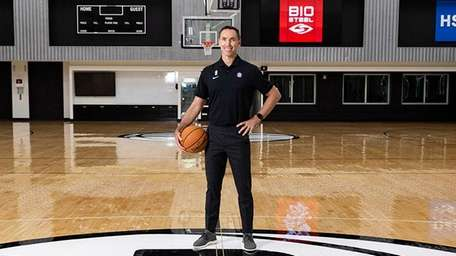 New Brooklyn Nets head coach Steve Nash poses