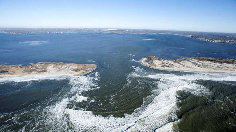 Breach caused by superstorm Sandy on Fire Island