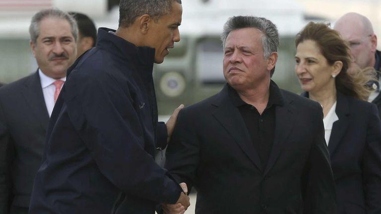 President Barack Obama with King Abdullah II of