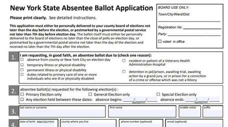 New Yorkers may now apply online for absentee