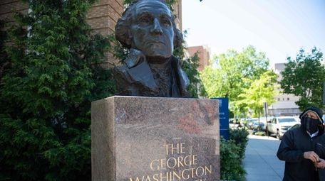 The campus of George Washington University in Washington,