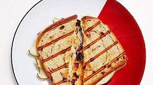 Check out an Apple-Cheddar Grilled Cheese sandwich, courtesy