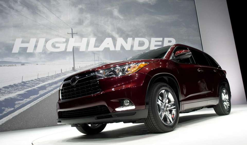 The Toyota Highlander at the 2013 New York