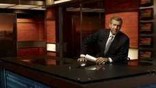 NBC News anchor Brian Williams on the set