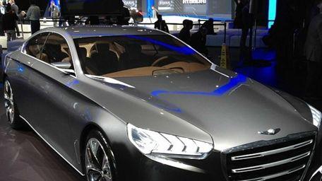 The Hyundai Genesis concept at the New York