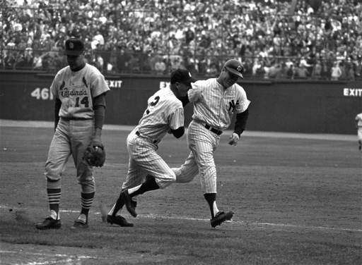 14. MICKEY MANTLE GAME 3 WORLD SERIES --