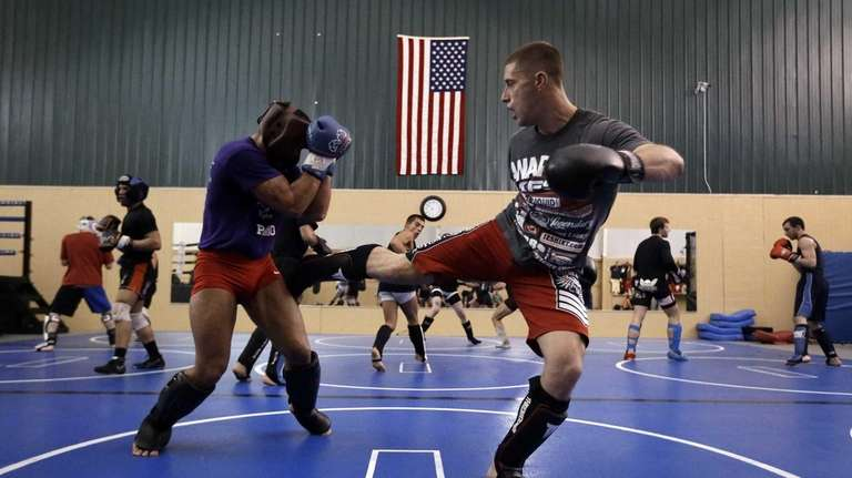 Fighters train at Fight Club Proving Ground gym