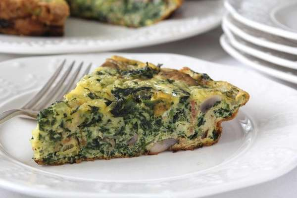 Spinach and Swiss frittata. (March 2013)