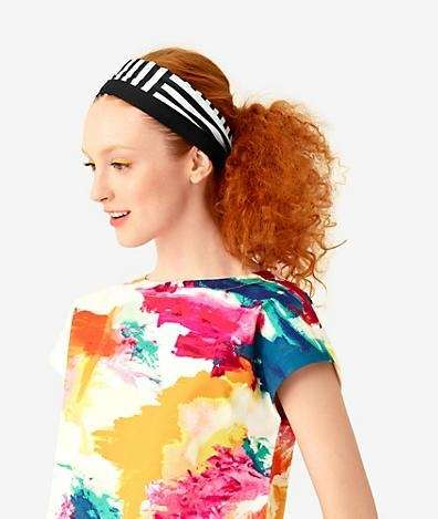 Kate Spade Saturday zigzag bandanna, $30, at Saturday.com.