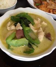 Green curry with eggplant at Thai Coconut in