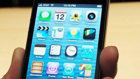 Apple's new iPhone 5 is on display San