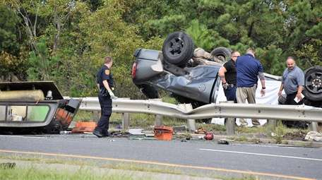 Suffolk police partially closed Nicolls Road in Holtsville