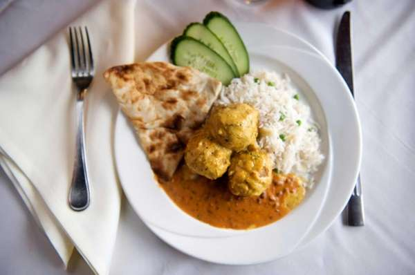 The Curry Club offers malai kofta (mixed vegetable