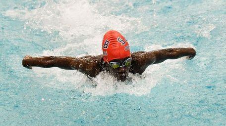 Praise Okodogbe of St. John the Baptist swims