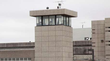 The guard tower of the Nassau County Jail
