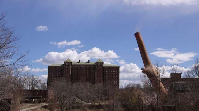 A smoke stack on the Kings Park Psychiatric