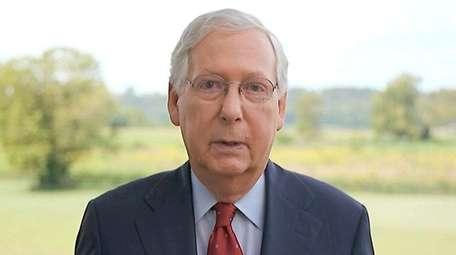 Senate Majority Leader Mitch McConnell (R-Ky.) addresses the
