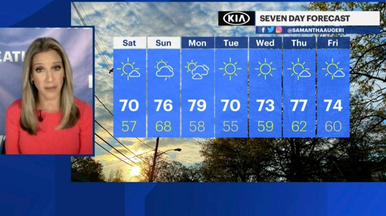 News 12 Long Island meteorologist Samantha Augeri gave