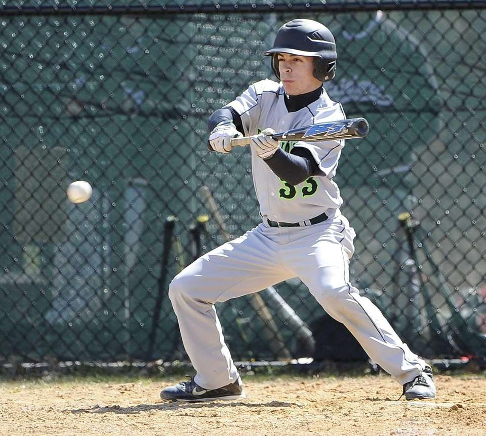 Ward Melville's Nicholas Vitale bunts to move a
