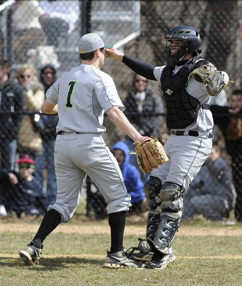 Ward Melville pitcher Anthony Kay and catcher Kyle