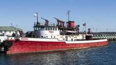 A historic FDNY fire boat from the 1930's