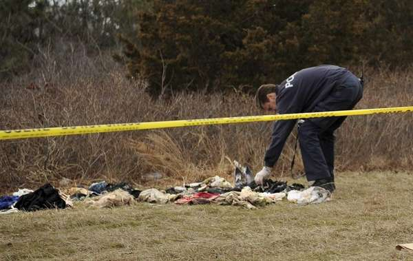 Suffolk County Crime Scene police search for evidence