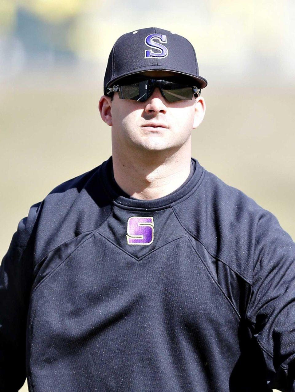 Sayville boys varsity baseball head coach Ryan Cox
