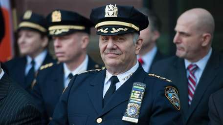 Chief of Department Joseph Esposito joins NYPD officers