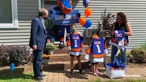 Islanders co-owner Jon Ledecky surprised fans at their