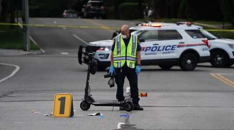 Nassau County police responded after a man fell