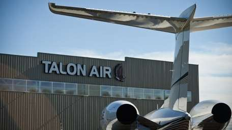 Talon Air's hanger at Republic Airport in East