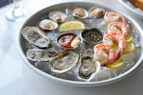 Local oysters and littleneck clams at Catch Oyster