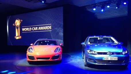The Porsche Cayman, left, and the seventh-generation Volkswagen