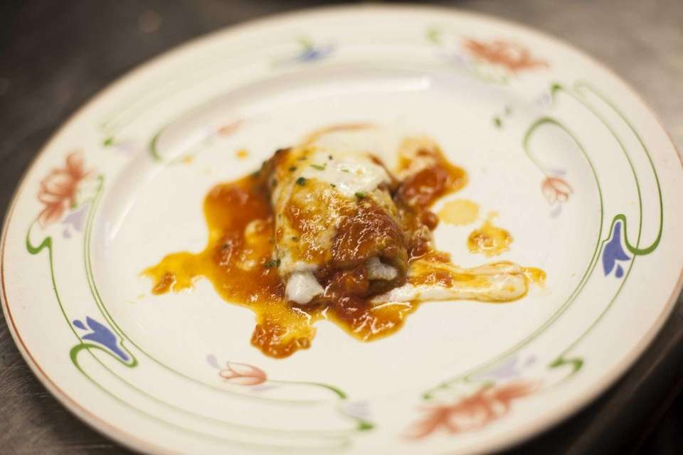 An eggplant rollatini appetizer at Benny's Ristorante in