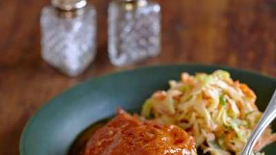 Oven-barbecued chicken from